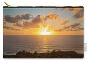 Sunset Over The Pacific Ocean, Torrey Carry-all Pouch
