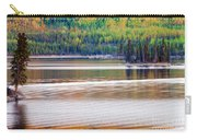 Sunset Reflections On Boreal Forest Lake In Yukon Carry-all Pouch