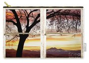 Sunset Tree Silhouette Abstract Picture Window View Carry-all Pouch by James BO  Insogna
