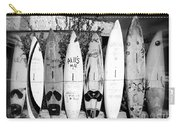 Surf Board Fence Maui Hawaii Carry-all Pouch by Edward Fielding