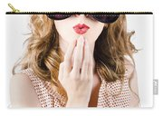Surprised Beautiful Pin-up Girl. White Background Carry-all Pouch