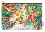 Tagore - Watercolor Portrait Carry-all Pouch