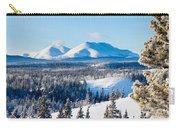 Taiga Winter Snow Landscape Yukon Territory Canada Carry-all Pouch