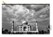 Taj Mahal India In Black And White Carry-all Pouch