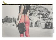 Tall Young Black Woman Modelling Handbag Accessory Carry-all Pouch