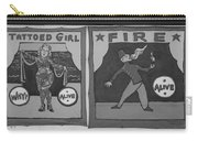 Tattoos And Fire In Black And White Carry-all Pouch