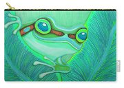 Teal Frog Carry-all Pouch