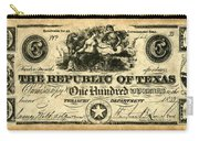 Texas Banknote, 1839 Carry-all Pouch