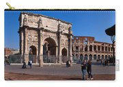 The Arch Of Constantine And Colosseum Carry-all Pouch