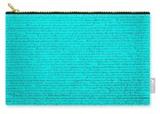 The Declaration Of Independence In Turquoise Carry-all Pouch by Rob Hans