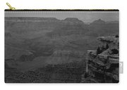 The Grand Canyon In Black And White Carry-all Pouch