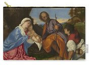 The Holy Family With A Shepherd Carry-all Pouch