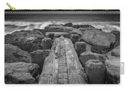 The Jetty In Black And White Carry-all Pouch