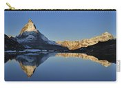 The Matterhorn And Riffelsee Lake Carry-all Pouch