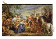 The Meeting Of David And Abigail Carry-all Pouch