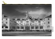 The Stanley Hotel Panorama Bw Carry-all Pouch