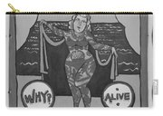 The Tattoed Girl In Black And White Carry-all Pouch