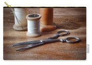 Thread And Scissors Carry-all Pouch