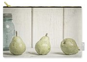 Three Pear Carry-all Pouch by Edward Fielding