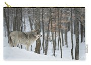 Timber Wolf In Winter Carry-all Pouch
