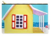 Tiny Yellow Cottage By The Sea Carry-all Pouch