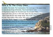 To The Crazy Ones Carry-all Pouch