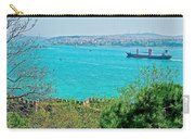 Topkapi Palace Wall Along The Bosporus In Istanbul-turkey  Carry-all Pouch