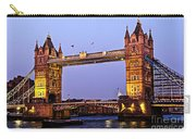 Tower Bridge In London At Dusk Carry-all Pouch by Elena Elisseeva