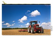 Tractor In Plowed Field Carry-all Pouch