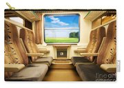 Travel In Comfortable Train. Carry-all Pouch