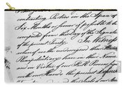 Treaty Of Alliance, 1778 Carry-all Pouch