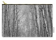 Trees Along A Road, Log Cabin Gold Carry-all Pouch