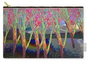 Trees Around Faal Season  Digitally Painted Photograph Taken Around Poconos  Welcome To The Pocono M Carry-all Pouch