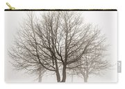 Trees In Winter Fog Carry-all Pouch by Elena Elisseeva