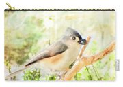Tufted Titmouse With Seed - Digital Paint Carry-all Pouch