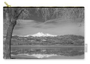 Twin Peaks Longs And Meeker Lake Reflection Bw Carry-all Pouch