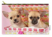 Two Chihuahuas Carry-all Pouch by Greg Cuddiford