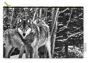 Two Gray Wolves Carry-all Pouch