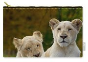 Two White Lions Carry-all Pouch