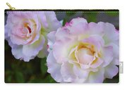 Two White Roses Carry-all Pouch