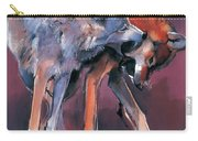 Two Wolves Carry-all Pouch by Mark Adlington