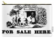 Uncle Tom's Cabin, C1860 Carry-all Pouch