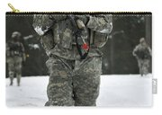 U.s. Army Soldier Conducts A Dismounted Carry-all Pouch
