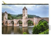 Valentre Bridge In Cahors France Carry-all Pouch by Elena Elisseeva