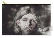 Vampire Woman Holding Flower. Horror Valentine Carry-all Pouch