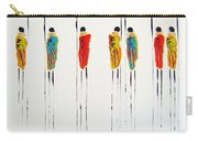 Vibrant Masai Warriors - Original Artwork Carry-all Pouch