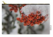 Viburnum Shrub In Snow Carry-all Pouch