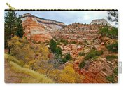 View Along East Side Of Zion-mount Carmel Highway In Zion National Park-utah   Carry-all Pouch