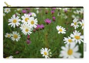 View Of Daisy Flowers In Meadow Carry-all Pouch