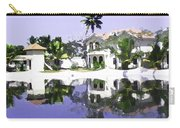 View Of The Cottages And Lagoon Water In Alleppey Carry-all Pouch